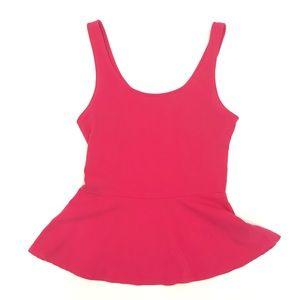 ⬇️ 🎀 Express • Bright Pink Peplum Top 🎀
